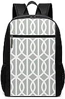 銀製灰色の屋外の枕 リュックバック リュックナップザック バッグ ノートパソコン用のバッグ 大容量 バックパック17インチ キャンパス バックパック 大人のバックパック 旅行 ハイキングナップザック