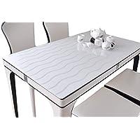 IVERNA テーブルクロス PVC製 テーブルマット デスクマット テーブルクロス 長方形 防水 撥水 耐久 汚れつきにくい ストライブ 60*120CM