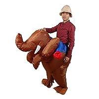 コスプレ ハロウィン 象さん 着ぐるみ インフレータブル 空気充填 膨らむ 衣装セット 変装 仮装 大人用 面白グッズ ジョークグッズ ものまね クリスマス プレゼント イベント パーティー USB携帶充電サポートです(Brown-Elephant)