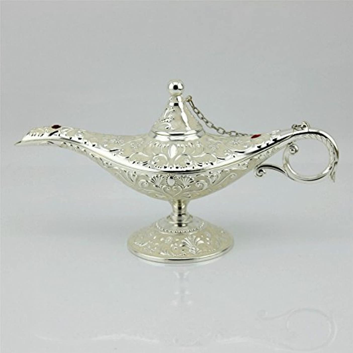 増幅する見つけるヘビーSY CraftsエナメルメタルAladdin Genie Lamps Incense Burners凡例Aladdin Magic Lamp