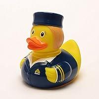 DUCKSHOP   Stewardess Rubber Duck   Bathduck ゴム製のアヒル  L: 8,5 cm