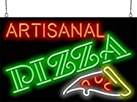 Artisanal Pizza Neon Sign