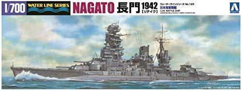 1/700 ウォーターライン No.123 日本海軍戦艦 長門 1942 リテイク
