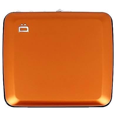 [OGON/オゴン] アルミコードロックウォレット ダイアルロック構造 スキミング防止 ギフト 防犯 鍵 ロック アルミニウム カードホルダー 蛇腹式 ジャバラ カードケース クレジットカード入れ ビジネス プレゼント メンズ ブランド おしゃれ (オレンジ)