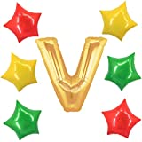 アドワン 数字 風船 バルーン 飾り付け 誕生日 ゴールド 大きい 数字1~9 文字 記念日 お祝い (V)