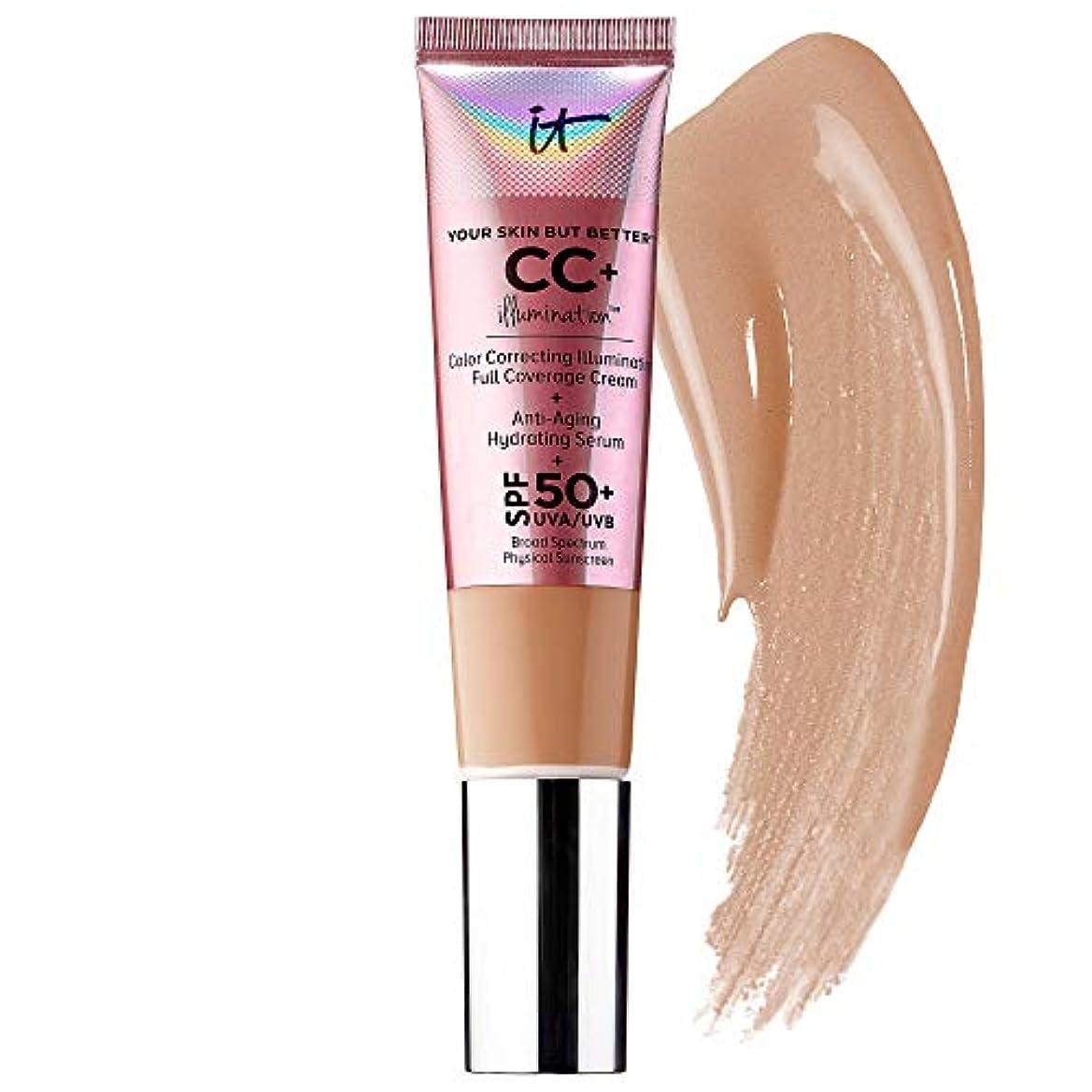 投獄対話手荷物IT COSMETICS CC+ Cream Illumination with SPF 50+ (Medium Tan)
