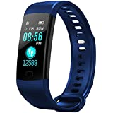 Fitness Tracker, AUOKER Upgrade Heart Rate Monitor Activity Tracker Watch with Sleep Monitor, Step Counter, Calorie Counter, Fitness Band, Smart Bracelet for Kids Women and Men - Blue