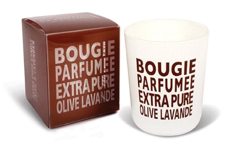 期限路地彼自身Provence グラスキャンドル オリーブラベンダー 140g