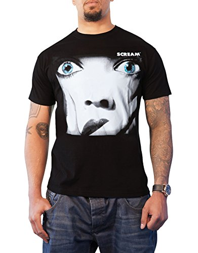 Scream T Shirt Movie ポスター horror 新しい 公式 メンズ ブラック Scream