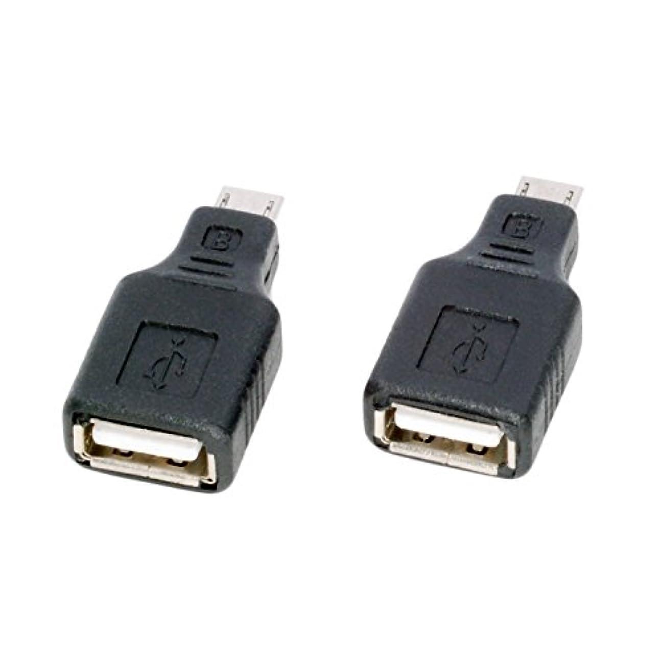 抜本的なバスケットボール勇敢な(ノーブランド品) USB(メス)⇒micro USB(オス) 変換アダプタ 2個セット