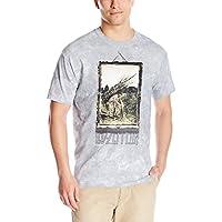 Liquid Blue Mens 61802-Light Grey-XX-Large Led Zeppelin Man with Sticks Tie Dye Short Sleeve T-Shirt T-Shirt