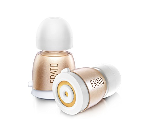 超軽量・超小型タイプの完全コードレス耳栓ワイヤレスイヤフォン APOLLO7 (ゴールド)