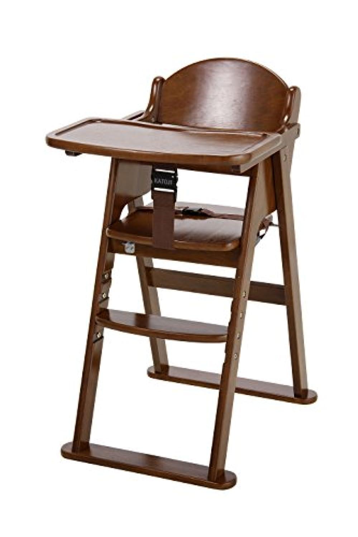 カトージ 木製ハイチェア cena ステップ切り替え (ブラウン) 22406