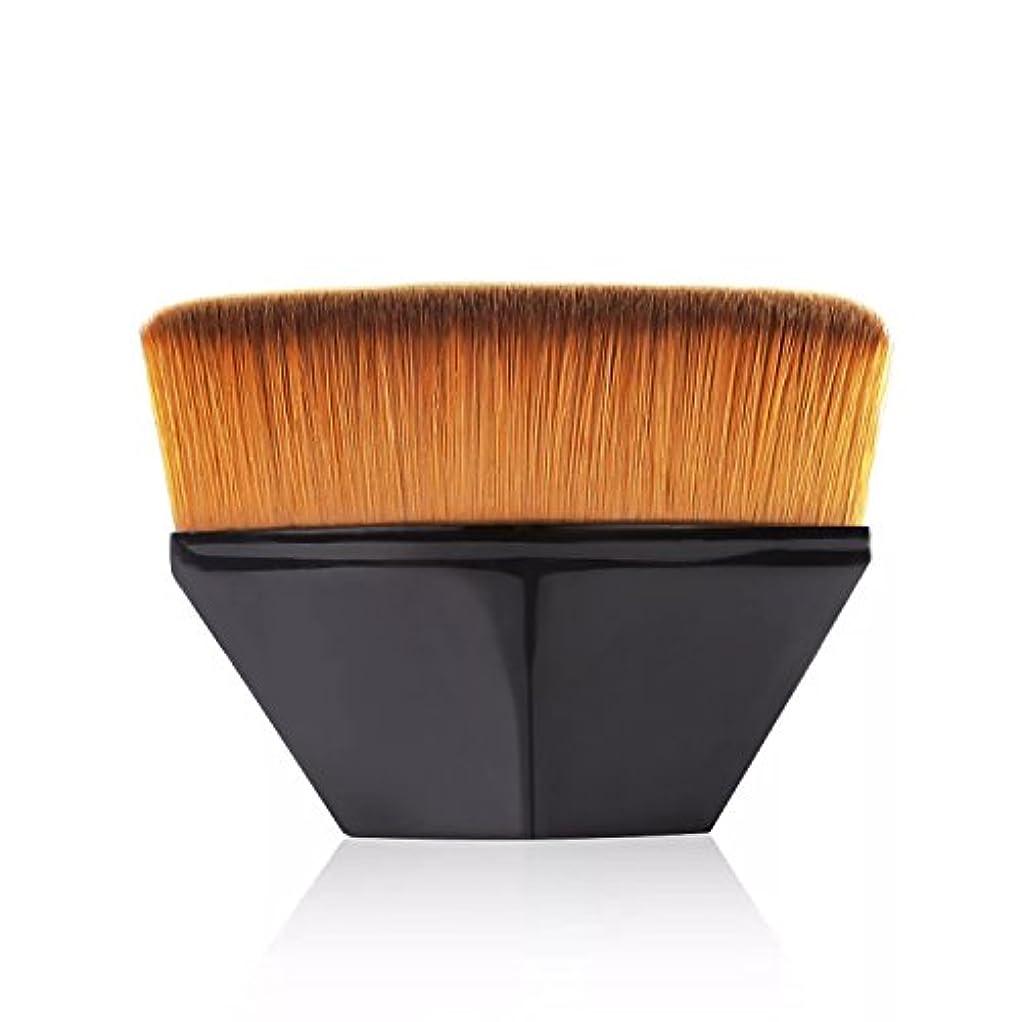南東大破日付ペタル ファンデーション ブラシ 高密度合成毛 ベース ブラシ ブラック