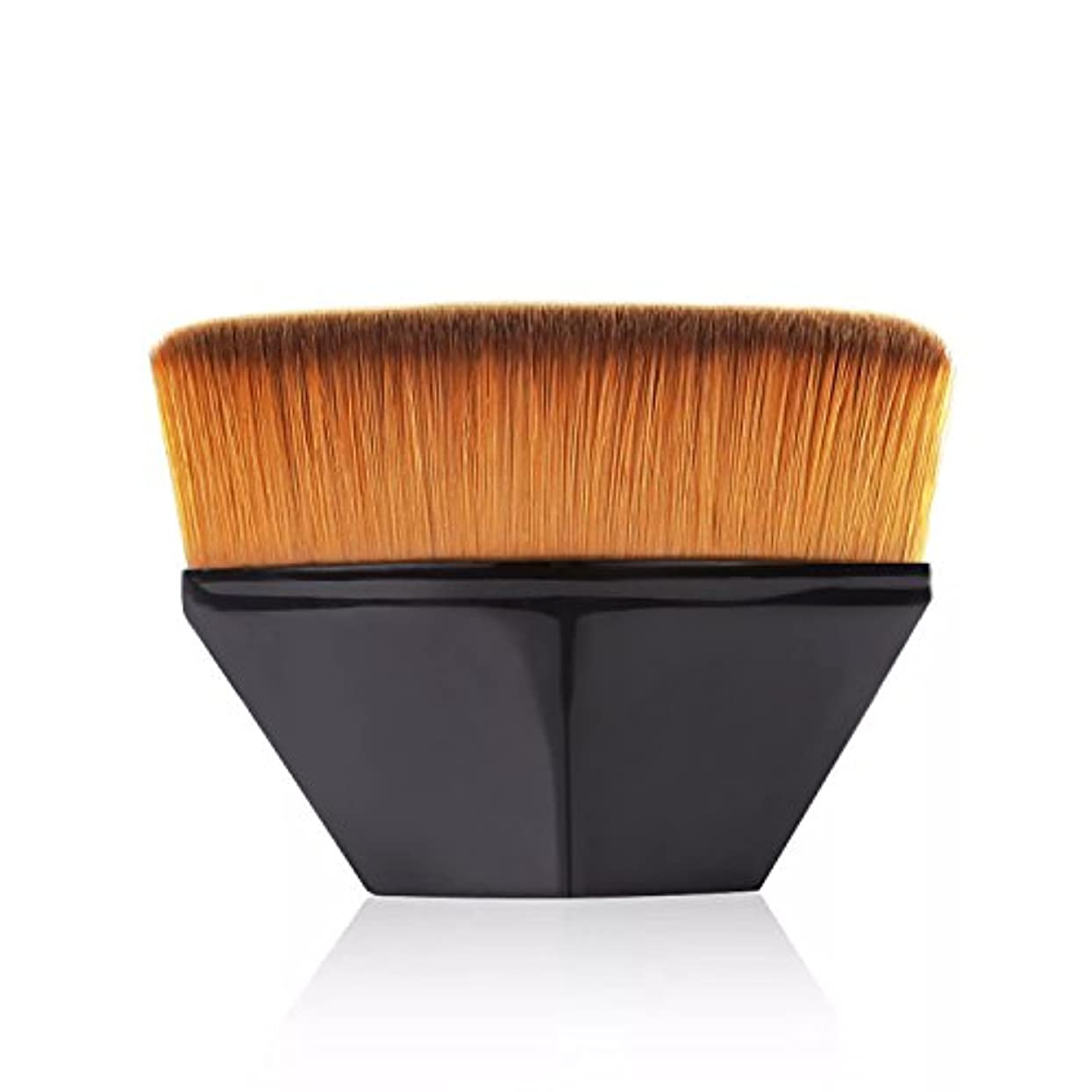 トーナメント自分を引き上げるユーザーペタル ファンデーション ブラシ 高密度合成毛 ベース ブラシ ブラック