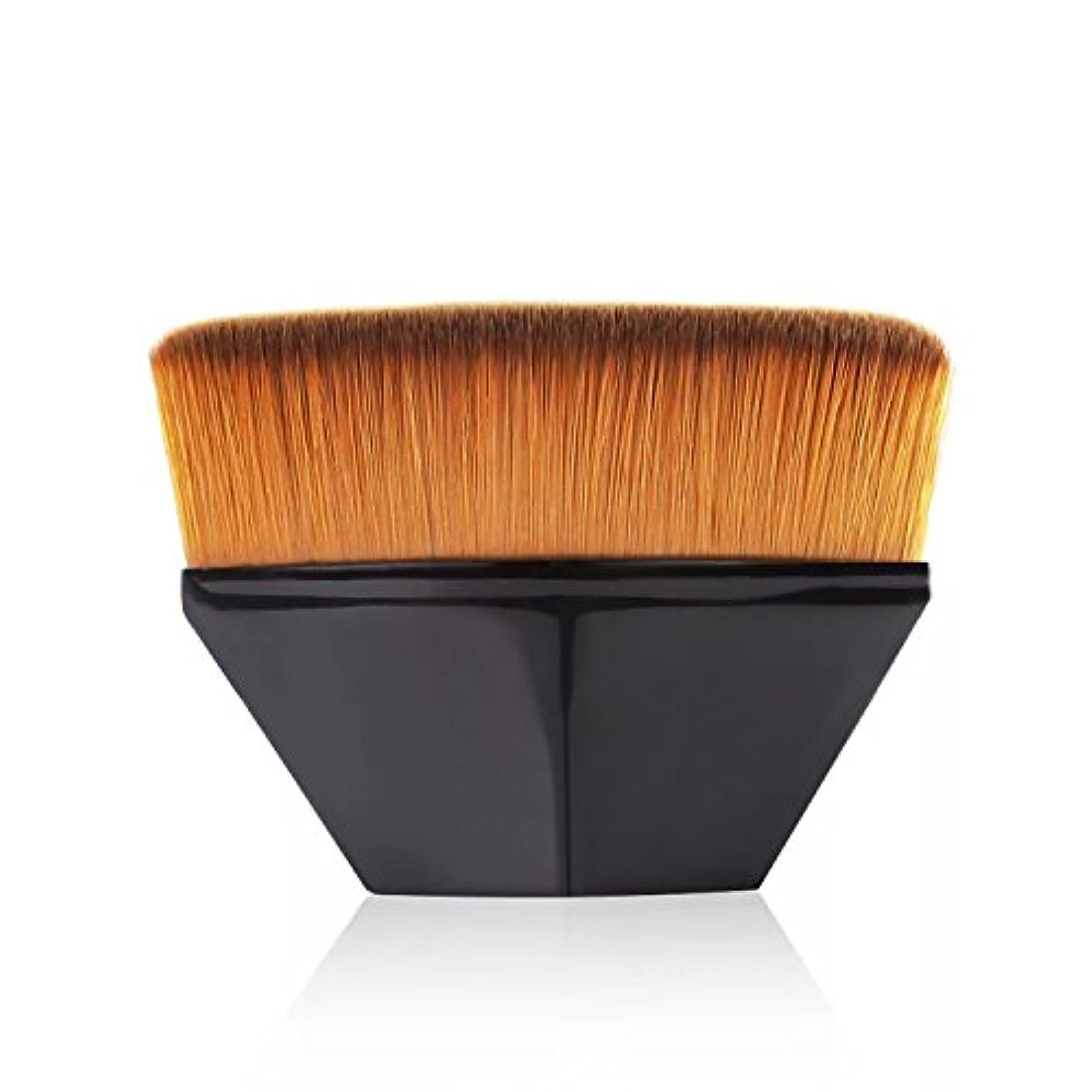 広まった控えめな強調するペタル ファンデーション ブラシ 高密度合成毛 ベース ブラシ ブラック