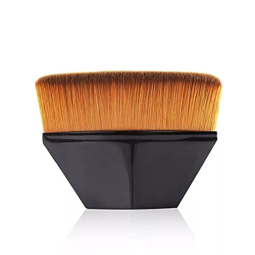 紳士一次刺繍ペタル ファンデーション ブラシ 高密度合成毛 ベース ブラシ ブラック
