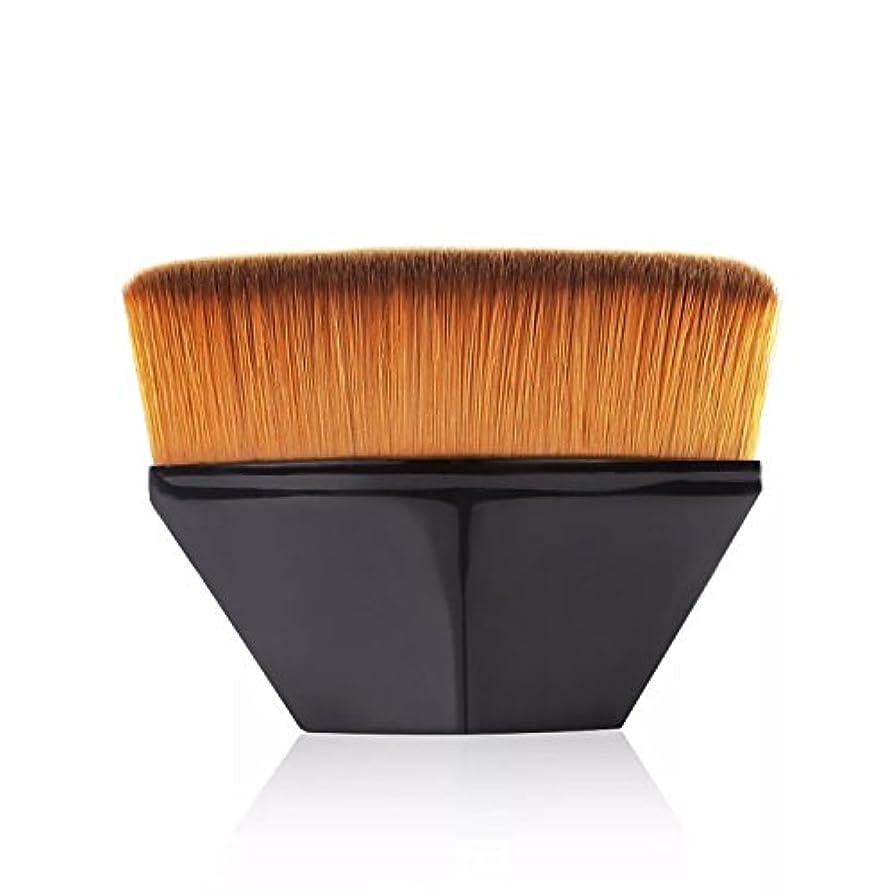 不確実注ぎます圧倒するペタル ファンデーション ブラシ 高密度合成毛 ベース ブラシ ブラック