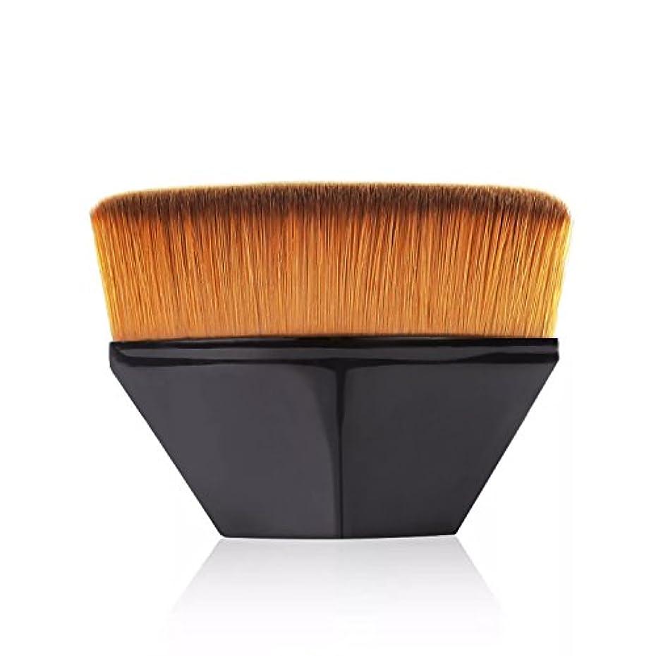 グリップはちみつ期限ペタル ファンデーション ブラシ 高密度合成毛 ベース ブラシ ブラック
