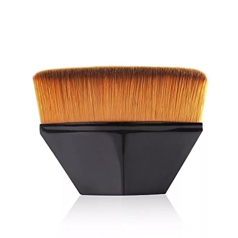 口述する背骨火山のペタル ファンデーション ブラシ 高密度合成毛 ベース ブラシ ブラック