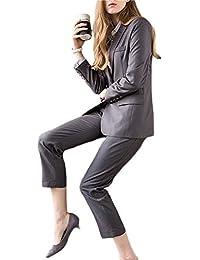 レディースパンツスーツ ビジネススーツ セットアップ 2点セット 入学式 スーツ 洗える 大きいサイズ