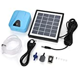 Solar Powered Aquarium Air Pump, Waterproof USB Oxygenator Aerator Air Pump Oxygen for Outdoor Pool Pond, Water Garden Pond Pumps