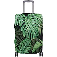 Mydaily Tropical Palm Leaves Luggage Cover Fits 18-32 Inch Suitcase Spandex Travel Protector