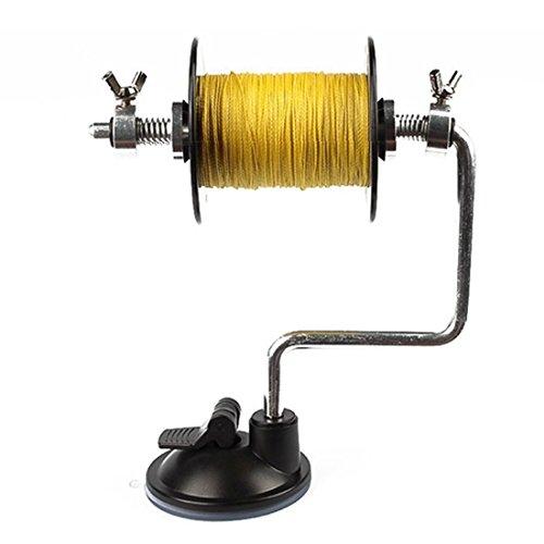 Goture Fishing Line Spooler Winder Reel Spool System Aluminum Fishing Tackle Silver