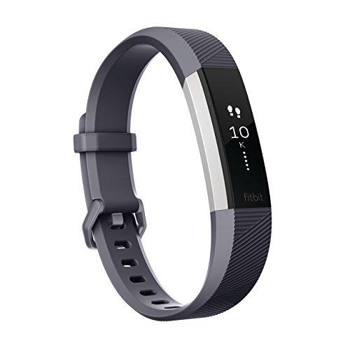 Fitbit フィットビット 活動量計 AltaHR バッテリーライフ最大7日間 睡眠ステージ記録 歩数&距離&カロリー記録 耐水性能 着信/テキスト通知 24時間心拍測定 Blue Gray ブルー グレー Lサイズ【日本正規品】 FB408SGYL-CJK