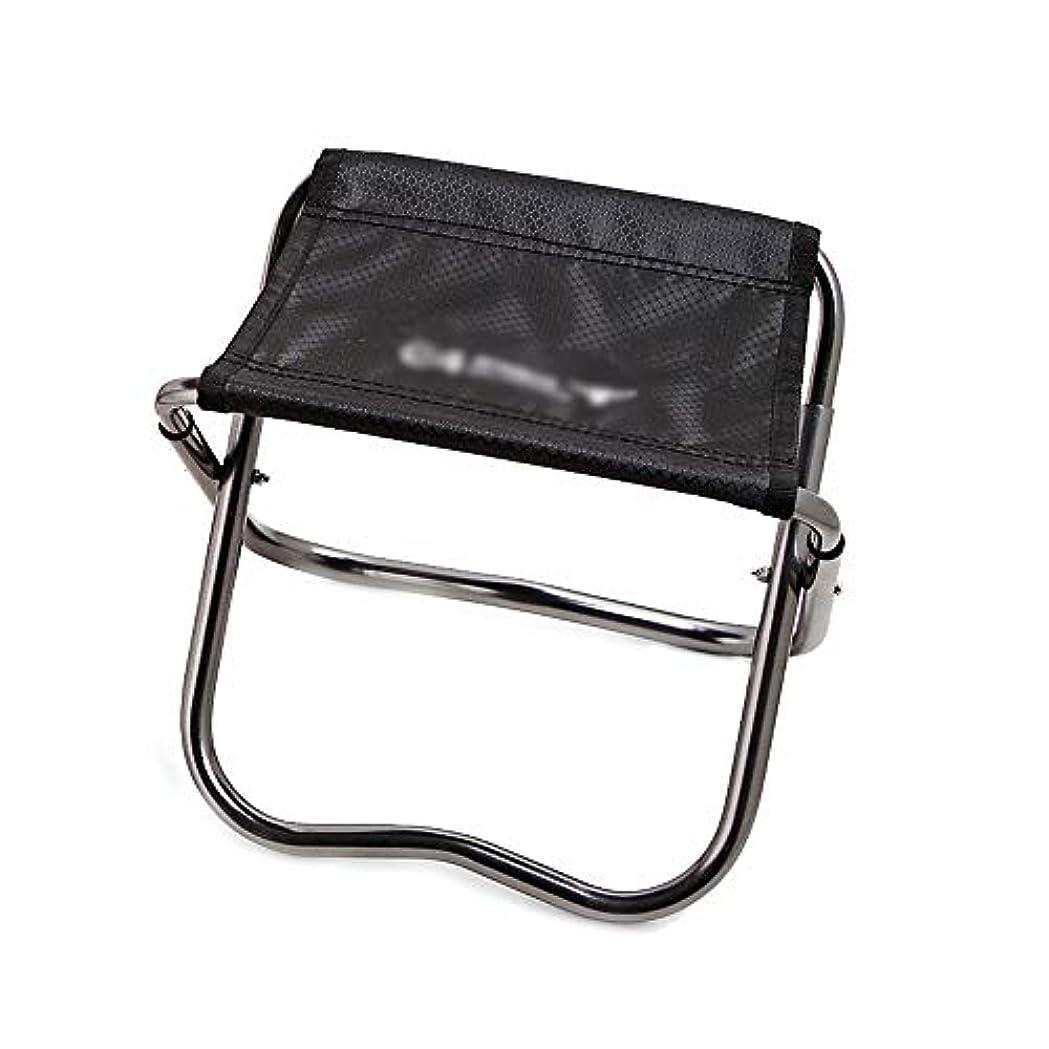 旅行のための黒い軽量の小型キャンプ席屋外のハイキングの釣り浜のための折り畳み式の密集したキャンプの椅子 アウトドア キャンプ用 (色 : ブラック, サイズ : 23X17X20cm)