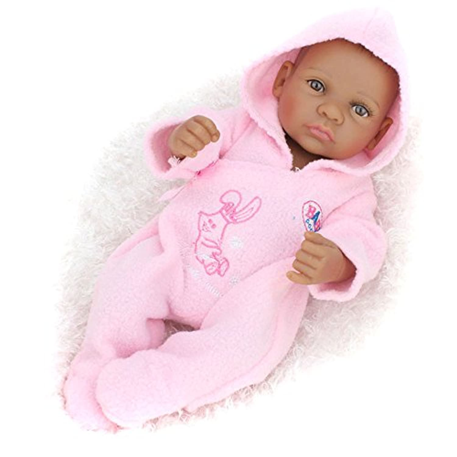 African American Reborn Baby Dolls Black Girls Looking Real Babies Toys for Boys Girls Kids