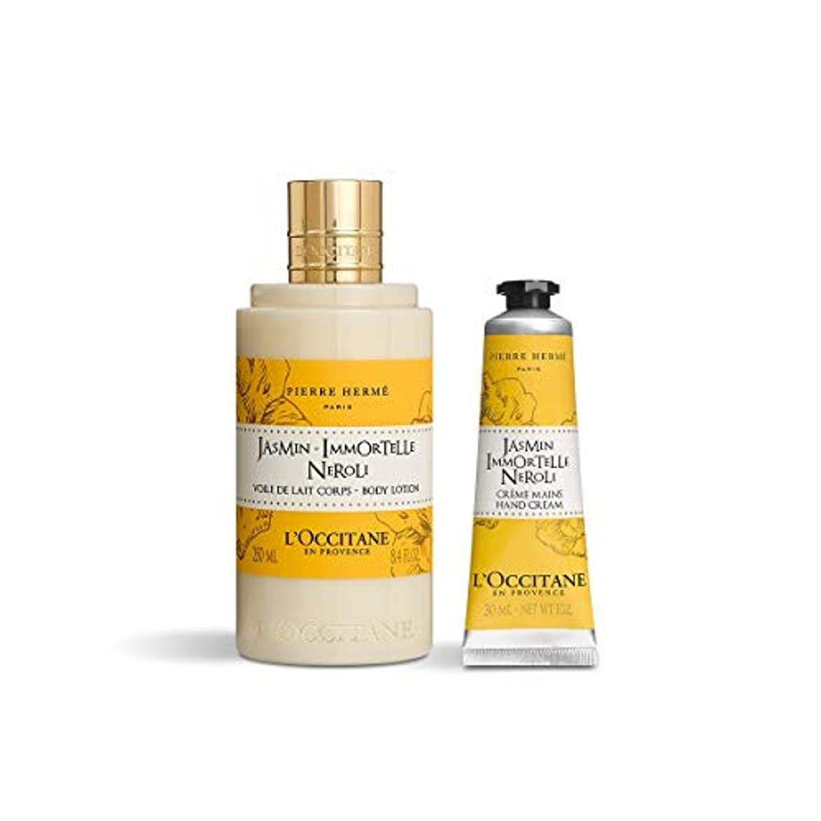 自分のためにいろいろソーセージロクシタン(L'OCCITANE) ジャスミン イモーテル ネロリ ボディ&ハンド(ボディミルク250ml+ハンドクリーム30ml)