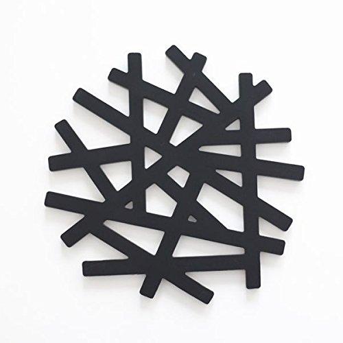 シリコン コースター 鍋敷き 【TREE】 【BLACK】おしゃれ雑貨 キッチン雑貨 オリジナル DESIGN 【ギフト】【MIRAGE-STYLE】