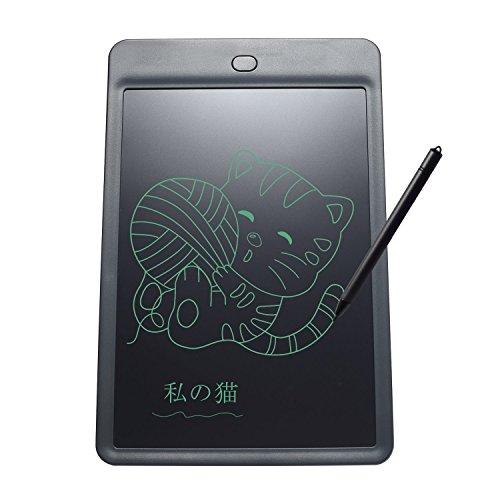 NexGadget 電子パッド 10インチ 文房具 電子メモ デジタルペーパー 筆談 ボード メモ用 薄型4mm 黒 H10L-B