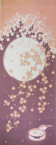 季節彩る 四季彩布 手拭い 日本製 sy-59 (4月(月と桜))
