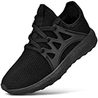 Feetmat Kids Sneaker Boys Girls Mesh Breathable Lightweight Walking Running Casual Shoes Black Size 1 M US Little Kid