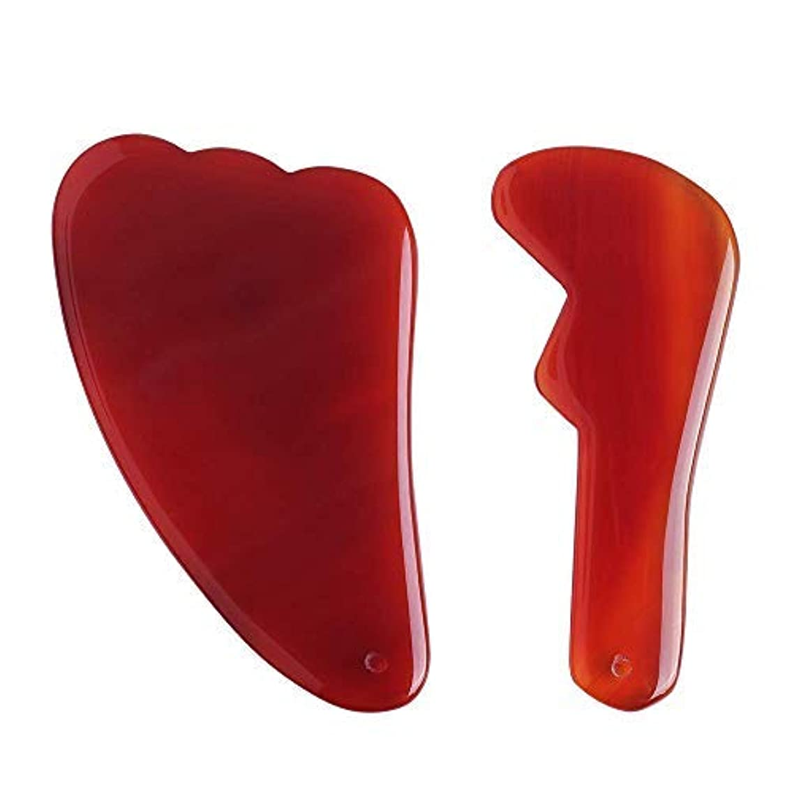 流出ジム同化Gua Sha Scraping Massage Tool Made of 100% Authentic Natural Agate Wonderful Massager for SPA treatment Facial...