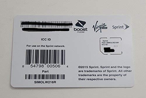 Sprint UICC ICC Micro SIM Card SIMOLW216R - Samsung Galaxy S4, S5, S5 Sport, Note 3, Note 4 [並行輸入品]