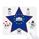 欧州連合 クリスマス・雪人家族ゴムのマウスパッド