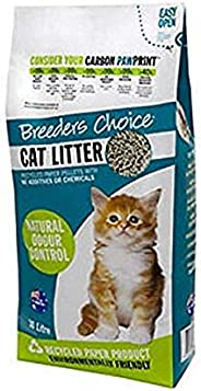 Breeders Choice Recycled Paper Cat Litter, 15 Liter