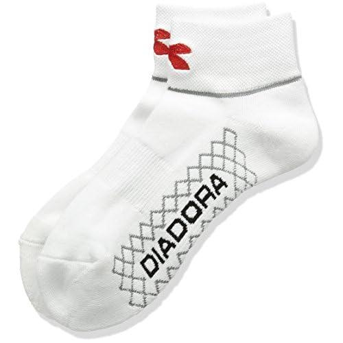 (ディアドラ)DIADORA ショートソックス TS6781 9035 ホワイト×レッド F
