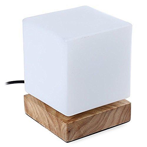 Injuicy 照明デスクライト多用途LEDデスクライト木製電気スタンド シンプルでおしゃれなデスクランプE27エジソン電球 スタンド デスクライトベッドサイドライト 間接照明 常夜灯 夜間照明 暖色 おしゃれ モダン 授乳用ナイトランプ、インテリアテーブルランプ、卓上読書ライト (B)