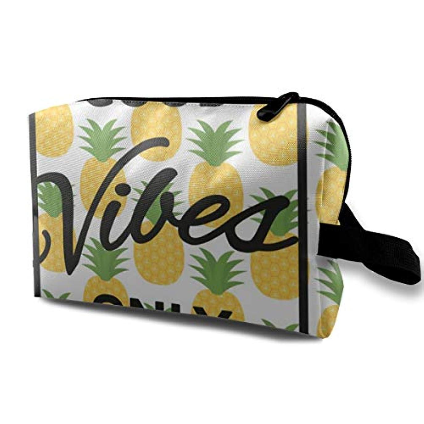 入手します鈍い結論Pineapple Motivational Sign 収納ポーチ 化粧ポーチ 大容量 軽量 耐久性 ハンドル付持ち運び便利。入れ 自宅?出張?旅行?アウトドア撮影などに対応。メンズ レディース トラベルグッズ