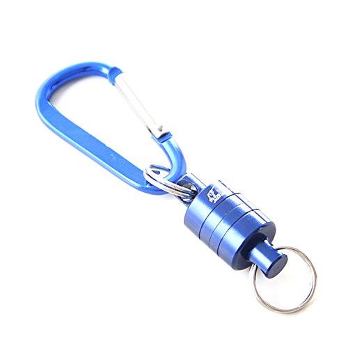 ネットリリースホルダー マグネットリリーサー 釣り マグネティックリリース フライフィッシング マグネットジョイント 金属製 ブルー