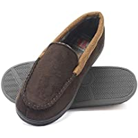 Hanes Boy Kid Toddler Moccasin Slipper House Shoe Indoor Outdoor Memory Foam Sole Fresh IQ Odor Protection