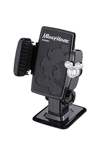 ナポレックス 車載ホルダー ディズニー スマートフォンホルダー3D ミッキー 抗菌 スワロフスキー®・クリスタル使用 汎用 WD-311