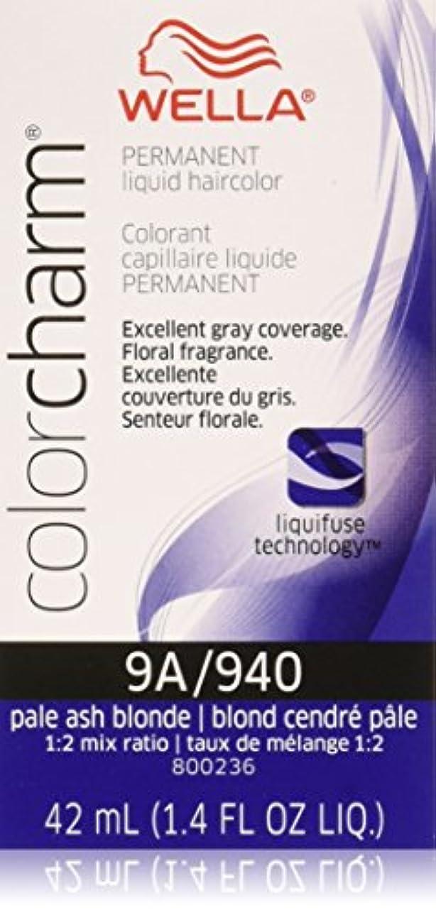 参照抽出月面Wella ペールアッシュブロンド色のチャーム液体パーマネントヘアカラー 1.4オンス 940 / 9Aペールアッシュブロンド