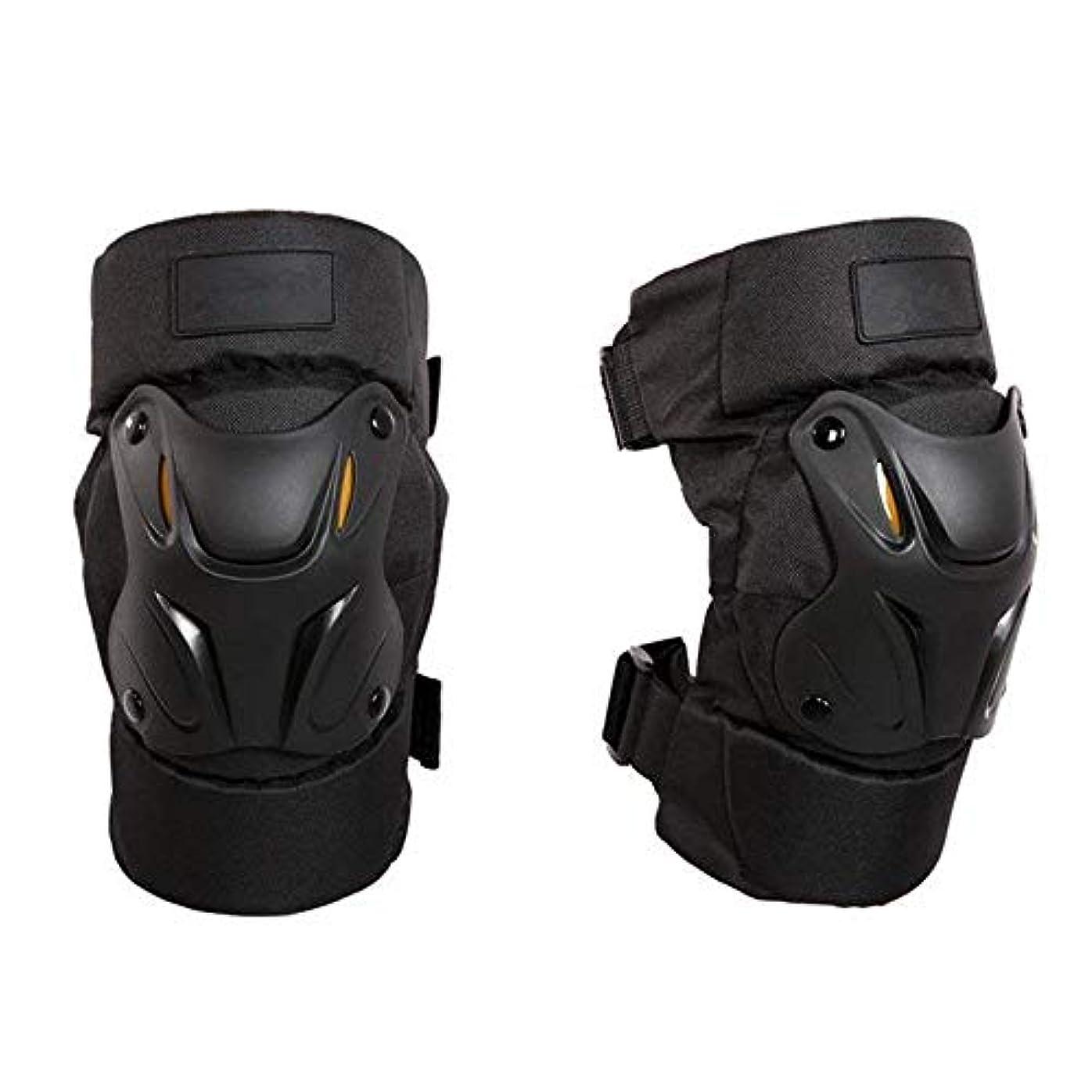 時制男やもめ共産主義膝プロテクター ブラック調整可能なアラミド繊維のオートバイ保護膝パッド大人の通気性のモトクロスMTBサイクリングスケートのための新警備員 バイク 膝をつくお仕事にも最適