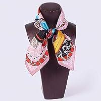 QingYun Trade レディースシルクスカーフ100%シルクスカーフスカーフショールユニークな気質を完璧に表現 (Color : Green, サイズ : M)