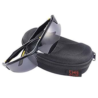Br'Guras 偏光 UV400 紫外線カット サングラス スポーツ サイクリング ランニング メガネ (3色選択可) (イエロー)